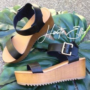 AYLA- Ankle Strap Wedge Sandal